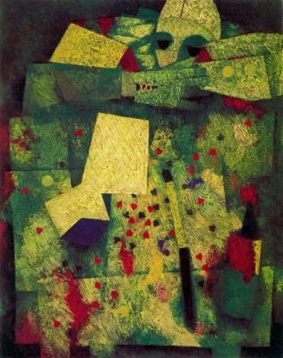 Mordechai Ardon. Abstraction in shades of green