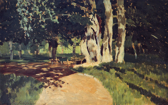 Isaac Levitan. In the Park. Sketch for the eponymous painting