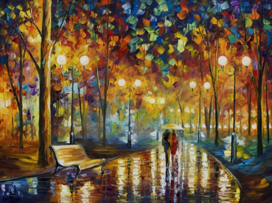 Leonid Afremov. The patter of the rain