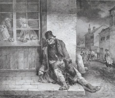 Théodore Géricault. Old beggar