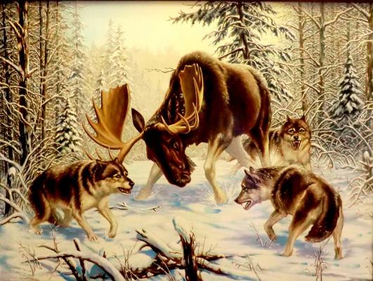 Valery Vasilyevich Litvinov. Hunting pack (copy Danchurova)