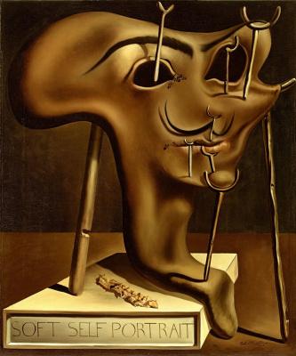 Salvador Dali. Soft self-portrait with fried bacon