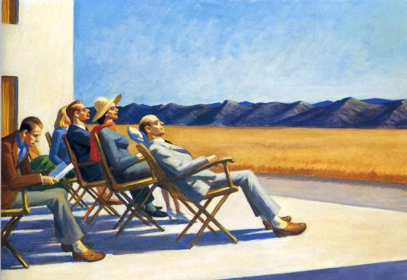 Edward Hopper. People in the sun
