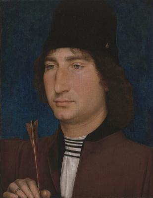 Ганс Мемлинг. Портрет мужчины со стрелой