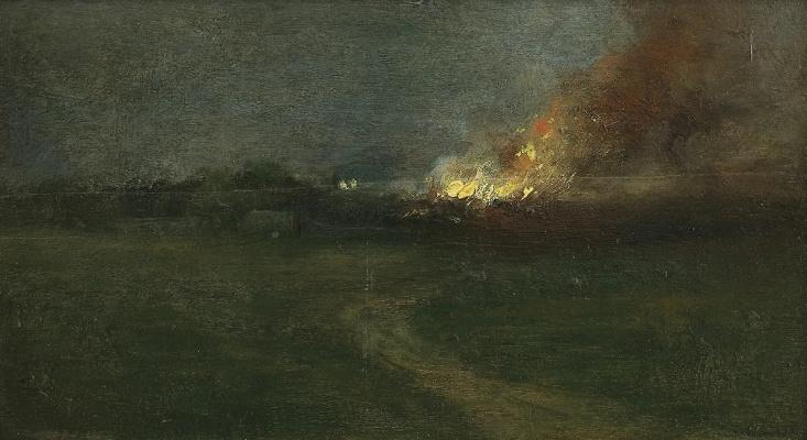 Jan Stanislavsky. Fire in the village