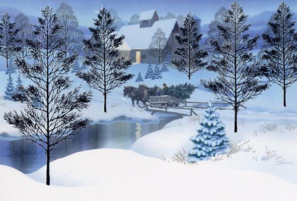 Стоккмат. Зимний пейзаж