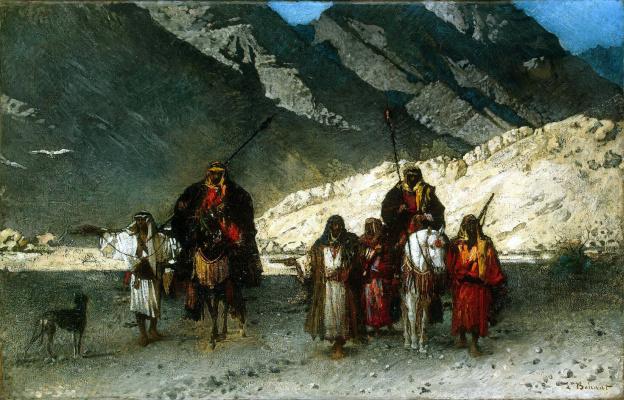 Леон Жозеф Флорантен Бонна. Арабские шейхи в горах