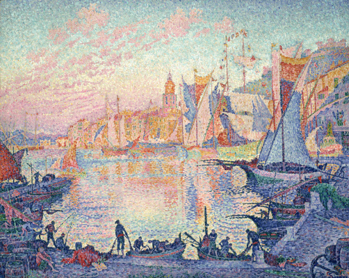 Paul Signac. The port in Saint-Tropez
