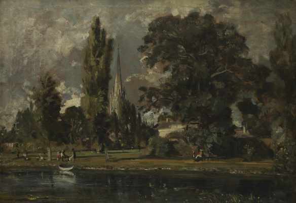John Constable. Salisbury Cathedral and Leadenhall from the river Avon