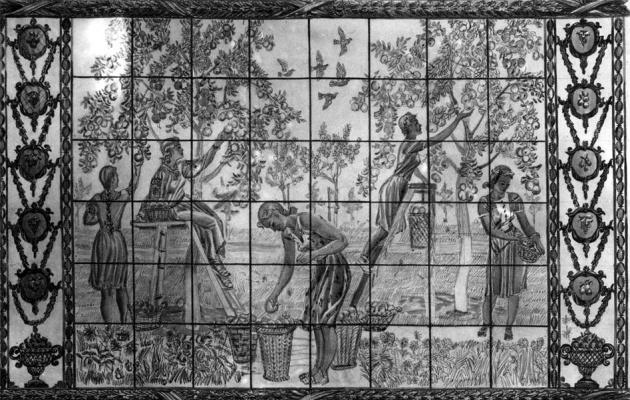 Alexander Alexandrovich Deineka. A sketch of a stained glass VSHV