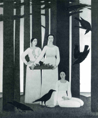 Will Barnet. Women and black crows
