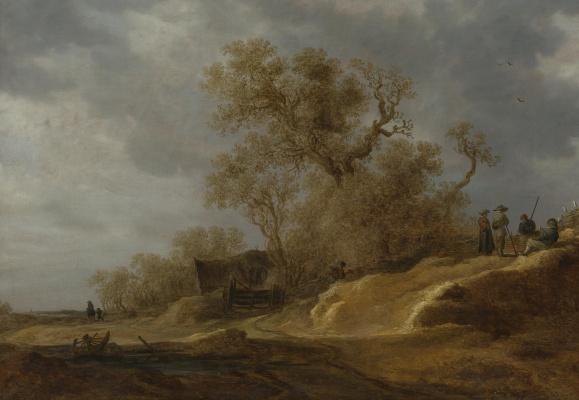Ян ван Гойен. Крестьяне у дороги