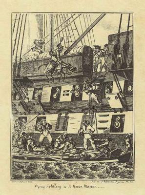 Джордж Крюйкшенк. Летающая артиллерия или моряк на коне