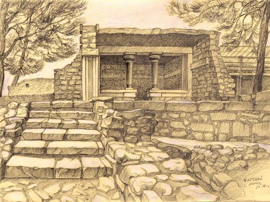 Irina Soboleva. The nooks and crannies of the Palace of Knossos