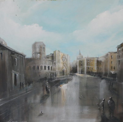 Alessia Lisenko. Valencia Cathedral and Saint Virgin Square