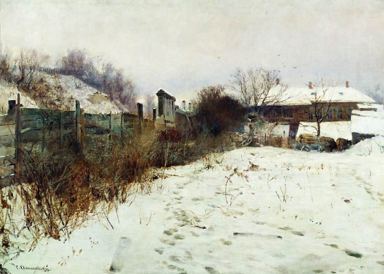 Sergey Ivanovich Svetoslavsky. Estate of the artist in winter