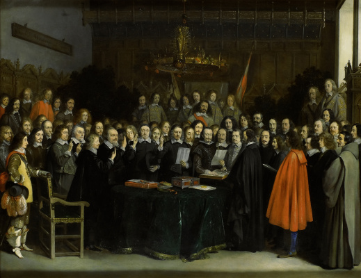 Gerard Terborch (ter Borch). Signing of the Münster Peace Treaty