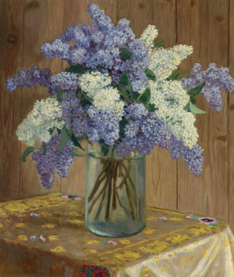 Nikolay Petrovich Bogdanov-Belsky. Still life with lilacs
