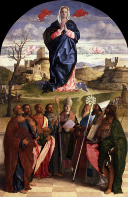 Джованни Беллини. Богоматерь во славе со святыми