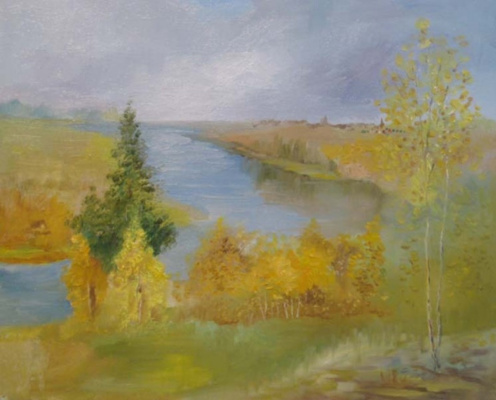 Pavel Markovich Osherov. Autumn . River