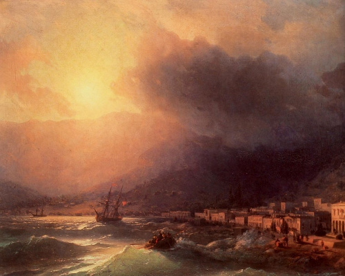 Ivan Aivazovsky. View of Yalta in the evening