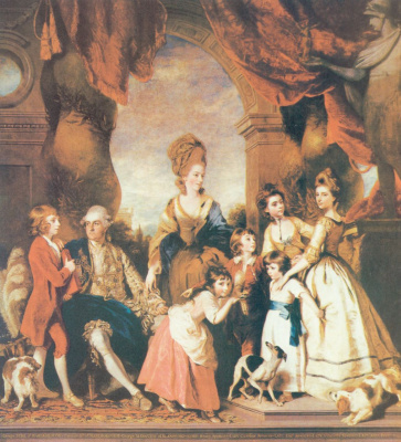Joshua Reynolds. The fourth Duke and Duchess with the family