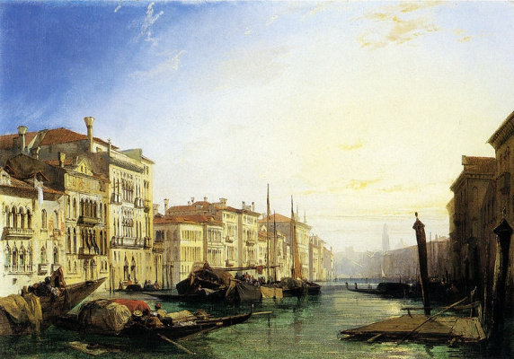 Richard Parkes Bonington. The Grand Canal in Venice