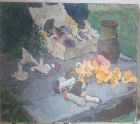 Владимир Дмитриевич Чураков. Натюрморт с грибами