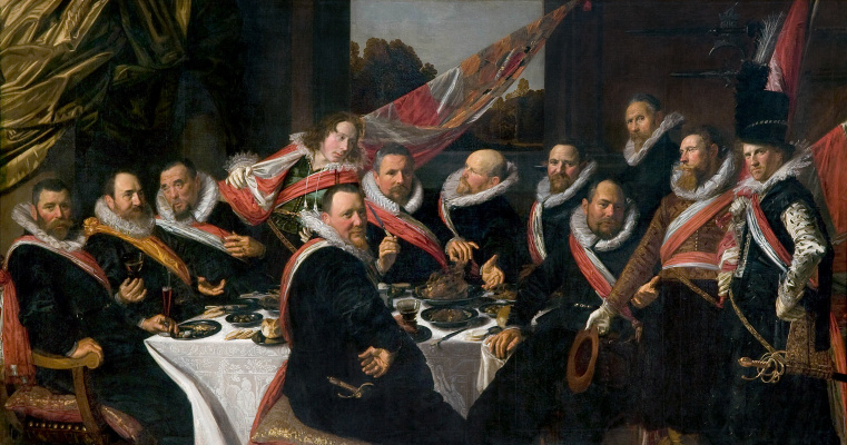 Frans Hals. Banquet of the officers of the Harlem shooting Guild of St George