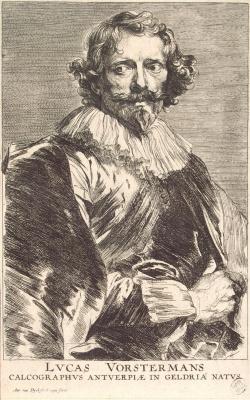 Anthony van Dyck. Portrait Of Lucas Vorsterman Older