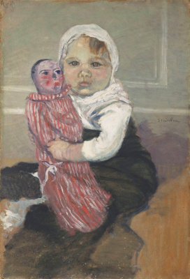 Theophile-Alexander Steinlen. Girl with a doll