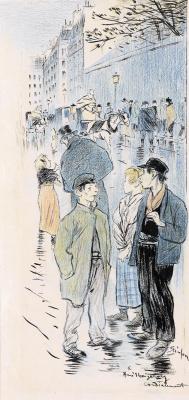 Theophile-Alexander Steinlen. Street scene
