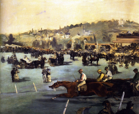 Edouard Manet. Races in the Bois de Boulogne