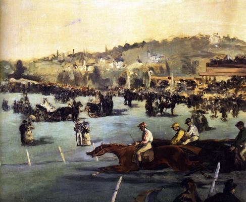 Edouard Manet. Races in the Bois de Boulogne