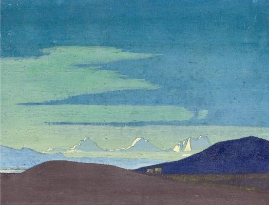 Nicholas Roerich. Close to the Tibetan border