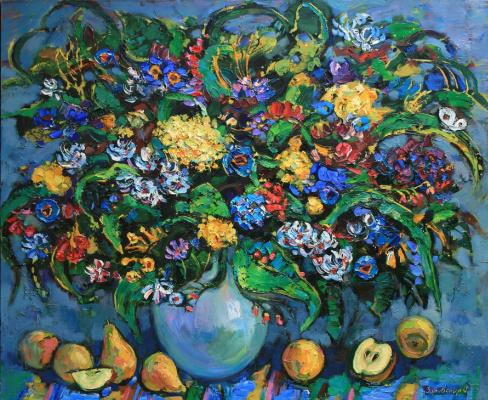 Oksana Viktorovna Zalevskaya. Forest bouquet and fruit.