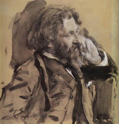 Валентин Александрович Серов. Портрет Ильи Репина