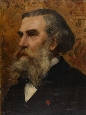 Jean-Paul Laurence. Portrait of A.P. Bogolyubov.