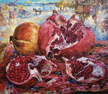 Suray Muradovna Akmuradova. Autumn still life