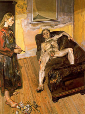 Lucien Freud. Artist and model