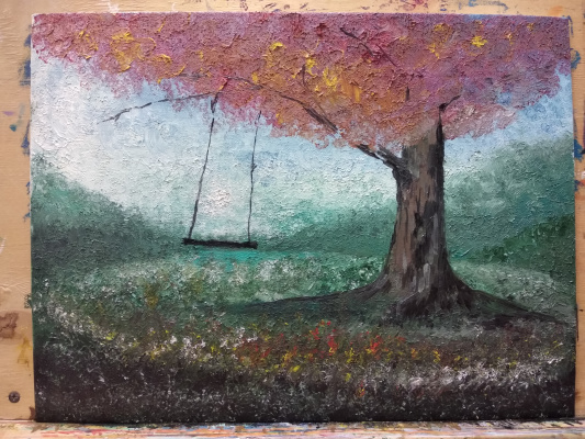 "Zifa Ishbulatovna Abdullina. ""tree and swing"""