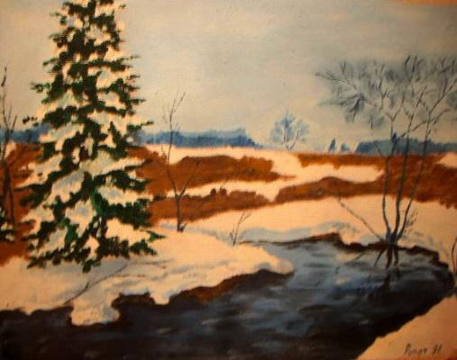 Vladimir Adamovich Ropot. Lonely spruce