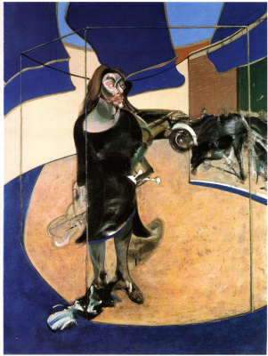 Francis Bacon. Portrait of Isabelle Rosthorn on the street