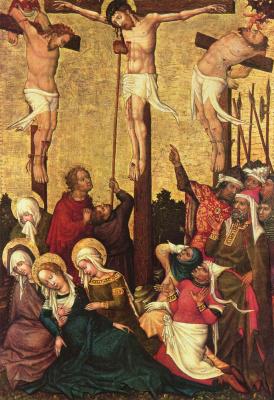 Hans von Tübingen. The crucifixion