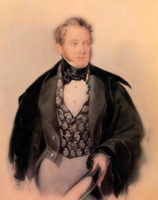 Alexander Pavlovich Bryullov. Portrait Of S. A. Sobolevsky