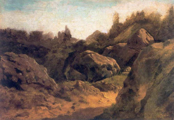 Fedor Alexandrovich Vasilyev. On the island of Valaam. Stones