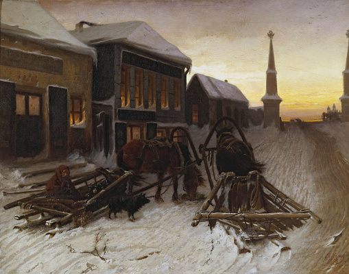 Vasily Grigorievich Perov. The last tavern at the Outpost