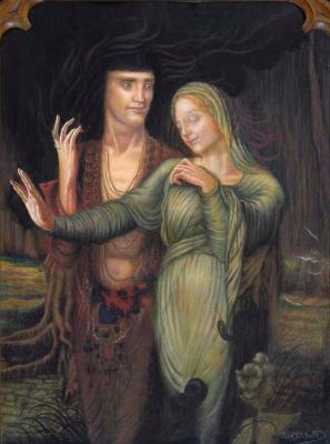 Jean Delville. Orpheus and Eurydice