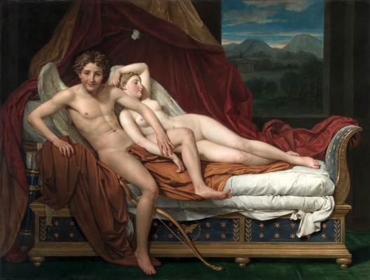 Jacques-Louis David. Cupid and Psyche