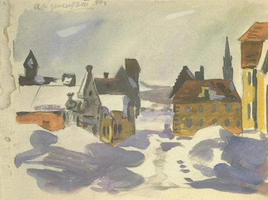 Alexander Alexandrovich Deineka. From the Viennese sketches